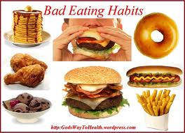 Bad eating habits